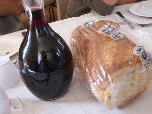 Biblical wine and bread