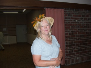 Mrs Powerfulpierre showing off her hat